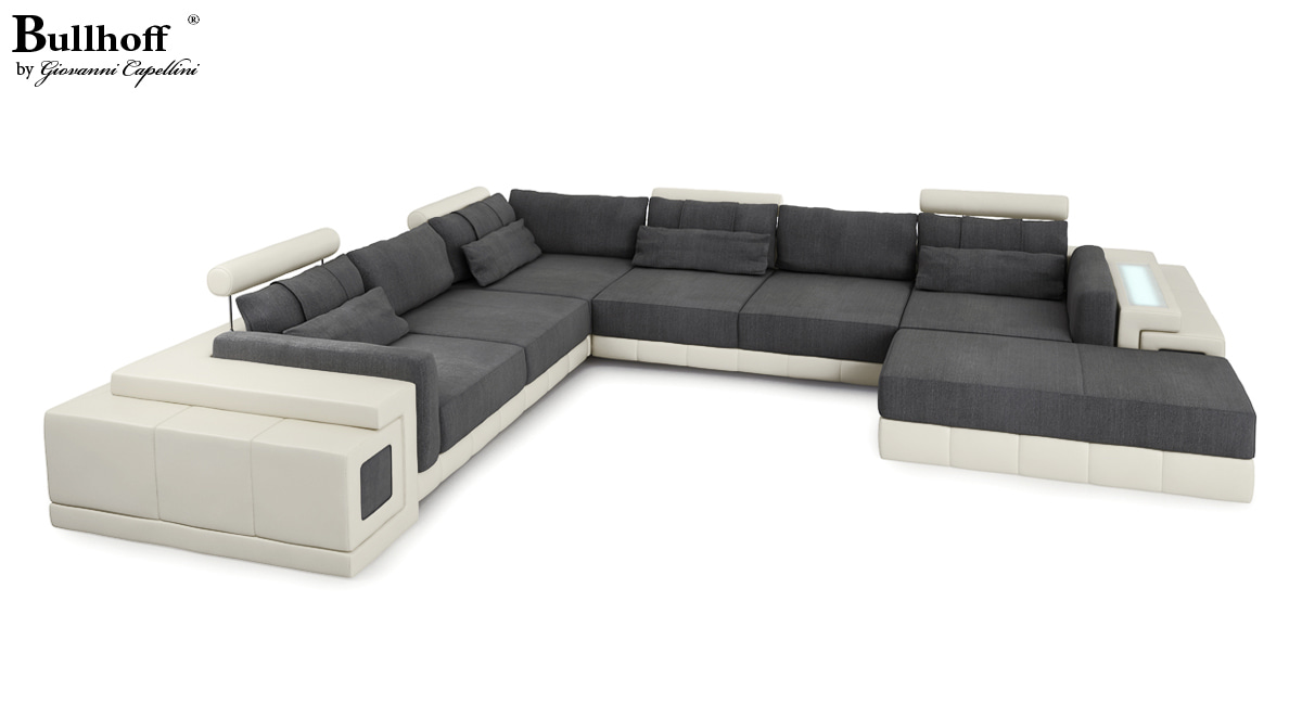 Sofa Leder/Stoff Hannover