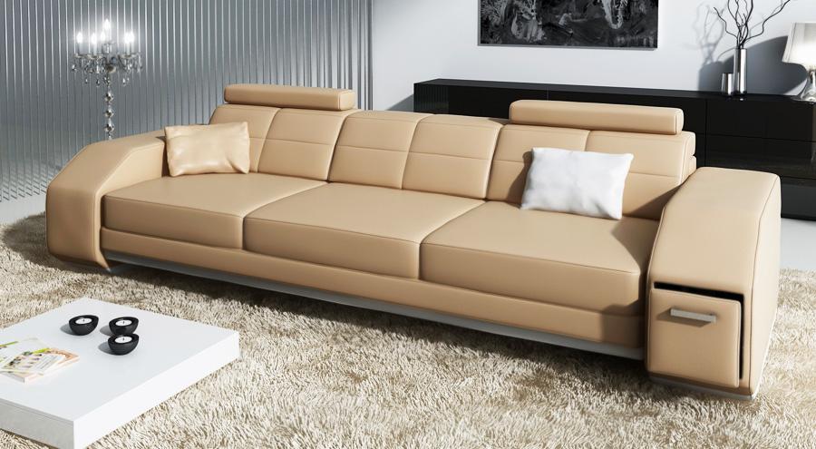 Luxus 3-Sitzer Ledersofa Frankfurt