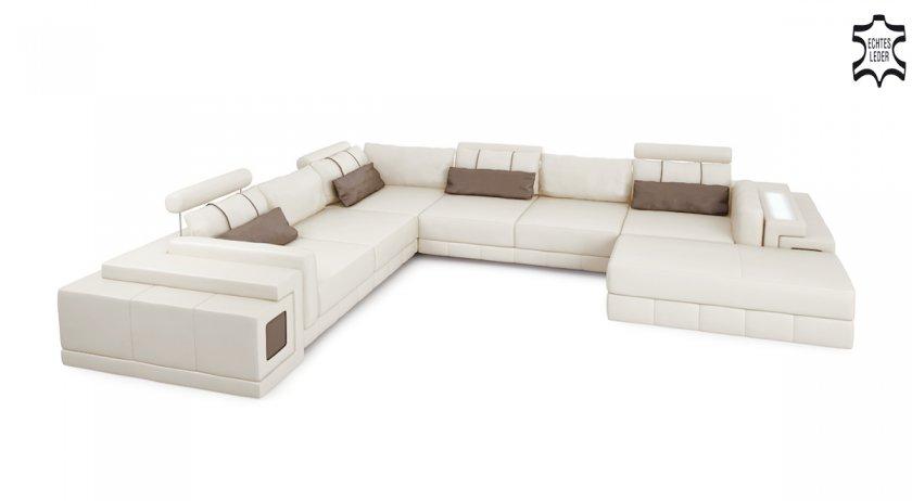 Sofas couches i modernes design echte leder unikate for Wohnlandschaft imola