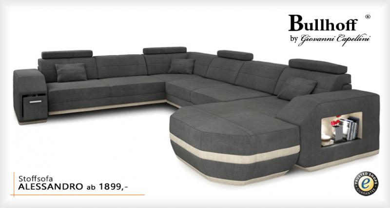 sofa modern stoff. Black Bedroom Furniture Sets. Home Design Ideas