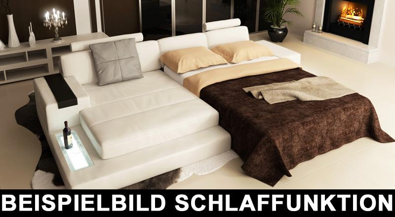 Schlafcouch Leder Hamburg II