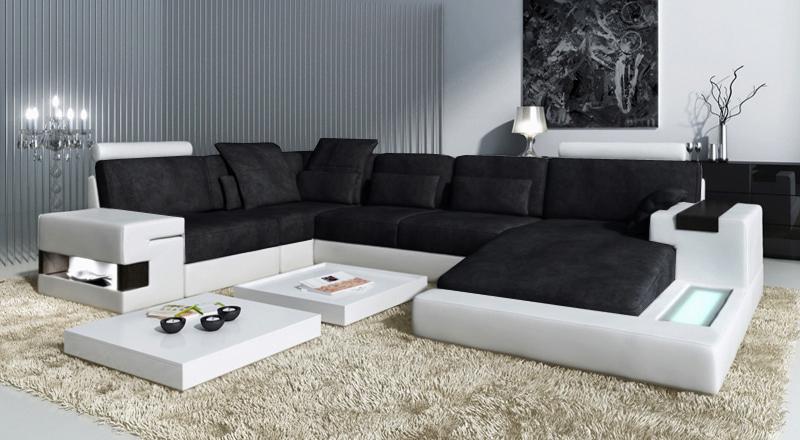 Sofa Leder/Stoff Hamburg