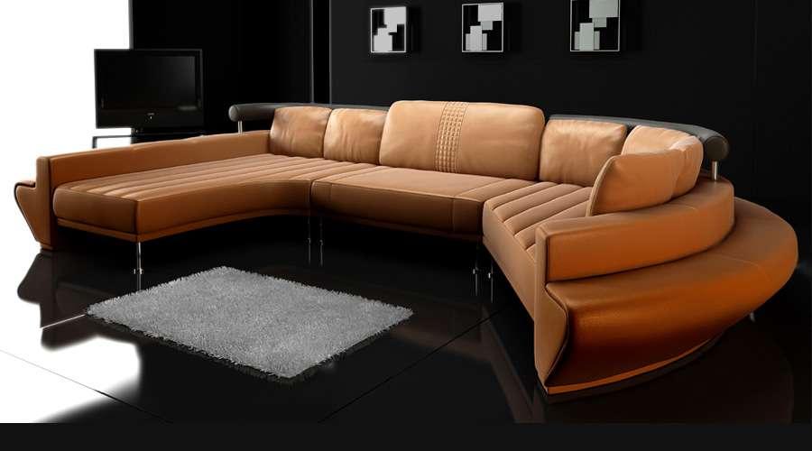 Designer couch rund  L'AQUILA - Leder Rundsofa von Bullhoff by Giovanni Capellini I ...