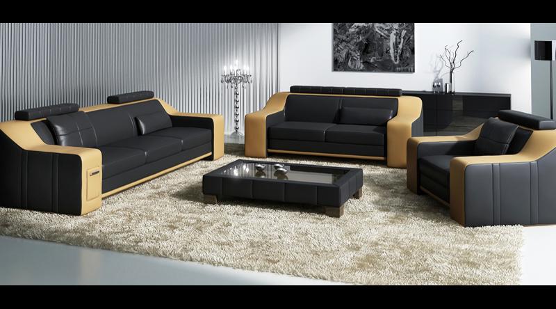 ! ANGEBOT !  SOFORT ! Leder Sofagarnitur Berlin V - 3-Sitzer + Sessel