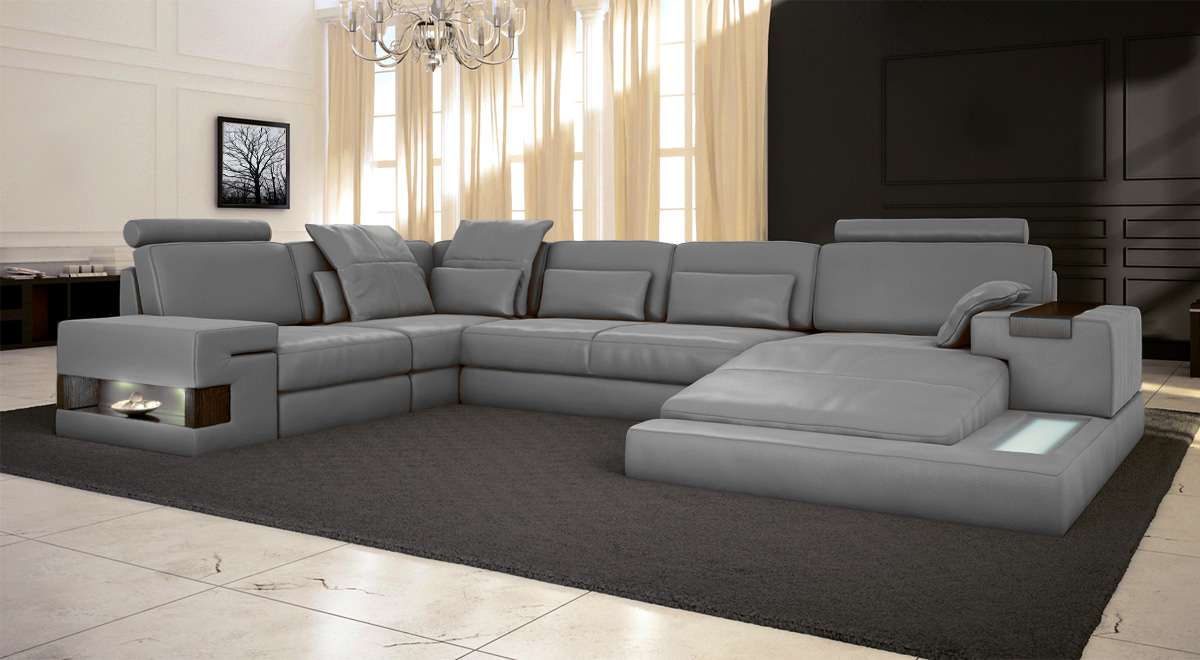 Wohnlandschaft design for Couch 45 grad