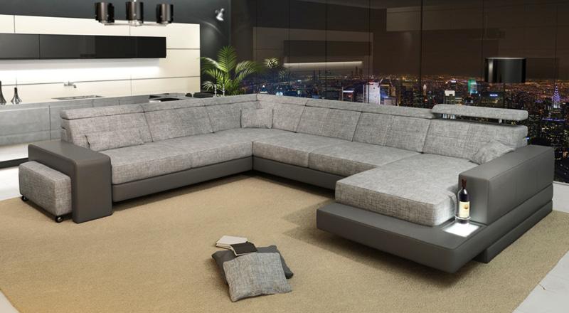 Sofa Leder/Stoff Bayern